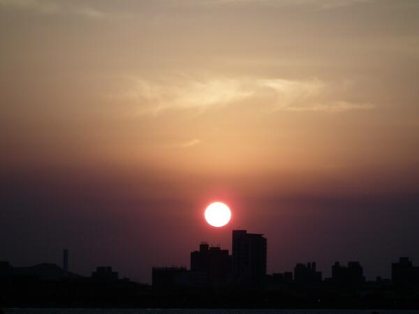淡水の夕日−2
