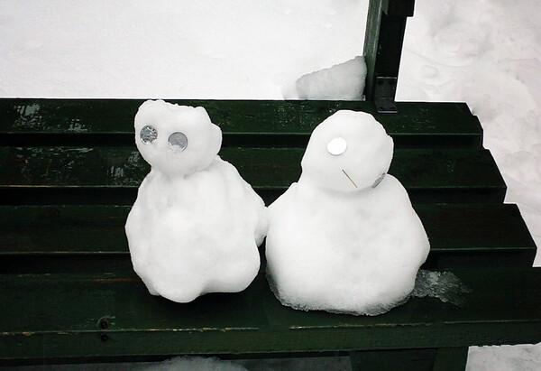 【睦】雪だるまの兄妹
