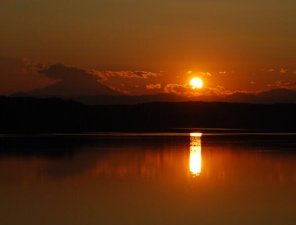 狭山湖夕景