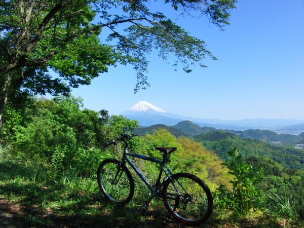 自転車と富士