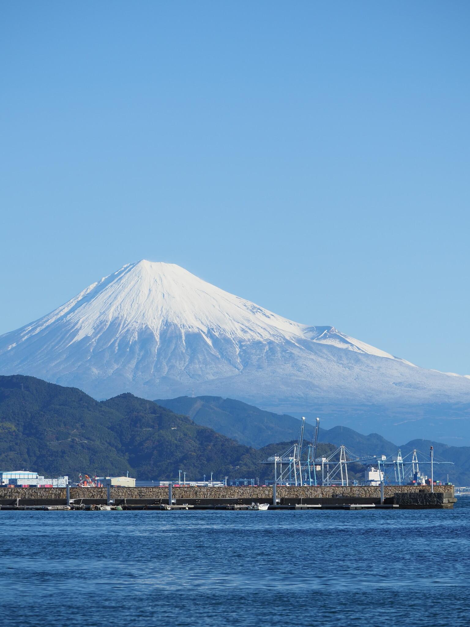 清水港より富士山~朝~
