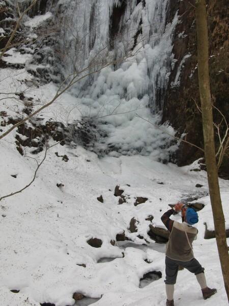 伊豆天城 芭蕉の滝 氷瀑