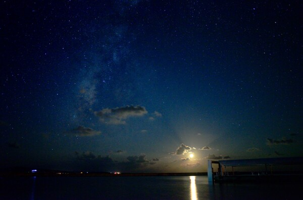 鳩間島の夜空