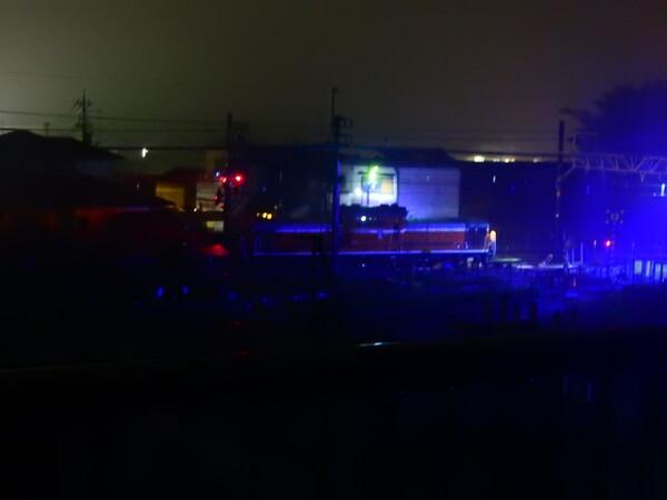 夜中の機関車