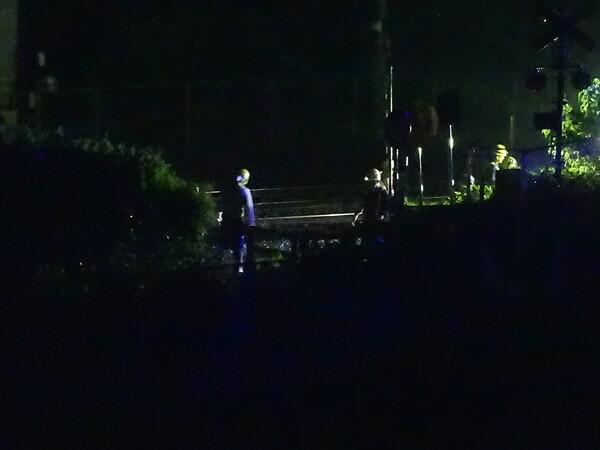 東海道線深夜工事