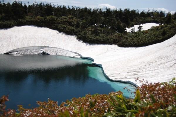八幡平の初夏 残雪