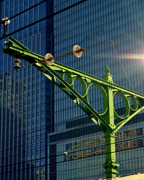 明治時代の架線柱