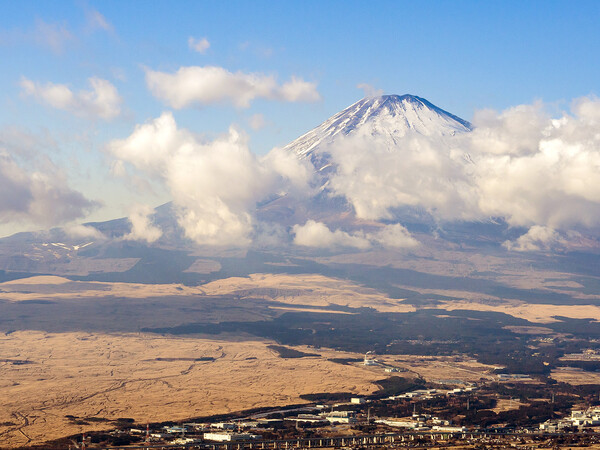 富士山を見る