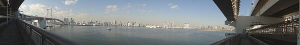 レインボー橋からの景色