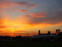 【夕日】と虹彩雲
