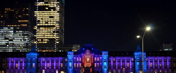 東京駅丸の内駅舎100周年メモリアルライトアップ2