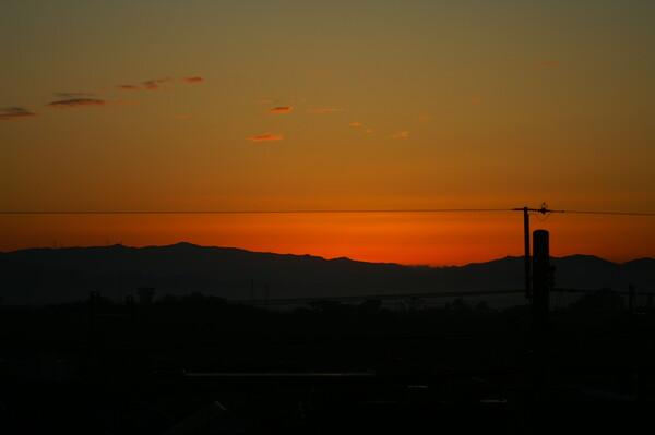 日が昇る手前
