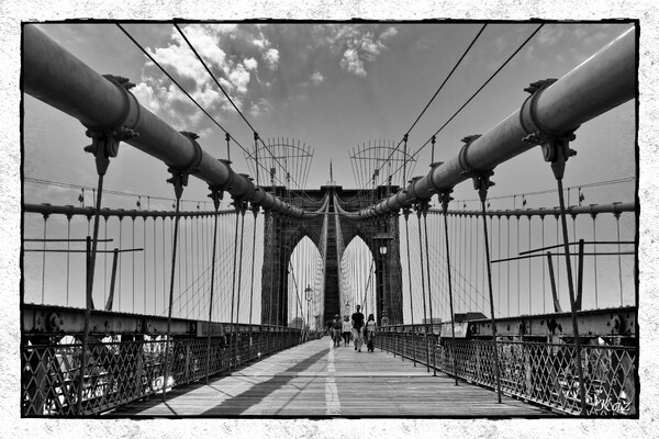 【白黒写真】ブルックリン橋