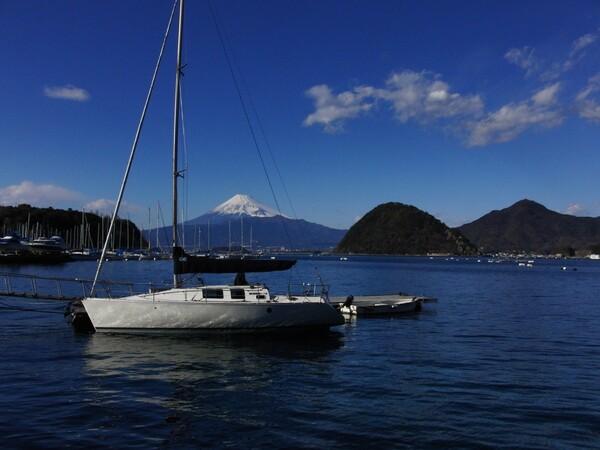 駿河湾越しの富士景