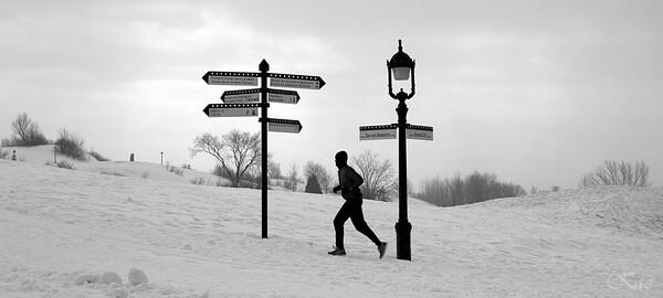 零下14度での雪中ジョギング