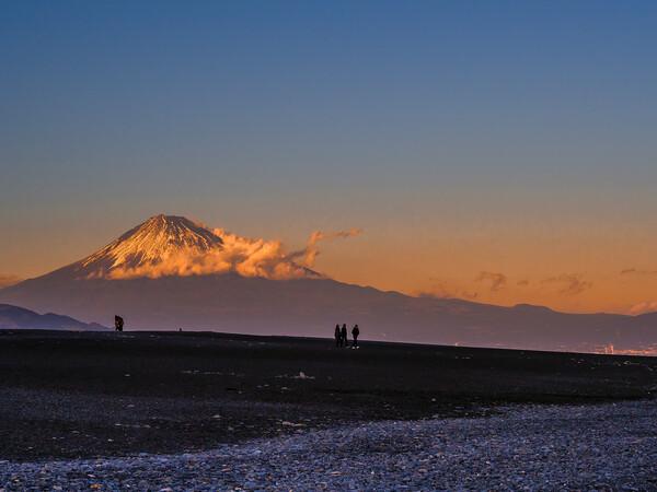 【心の故郷】富士山の夕焼け