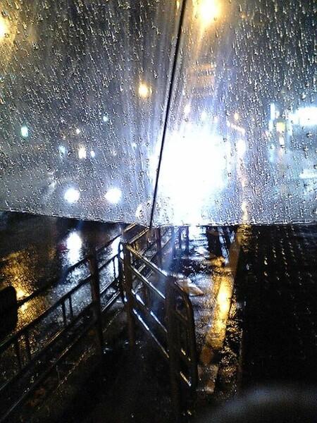 雨の日は自転車が〜