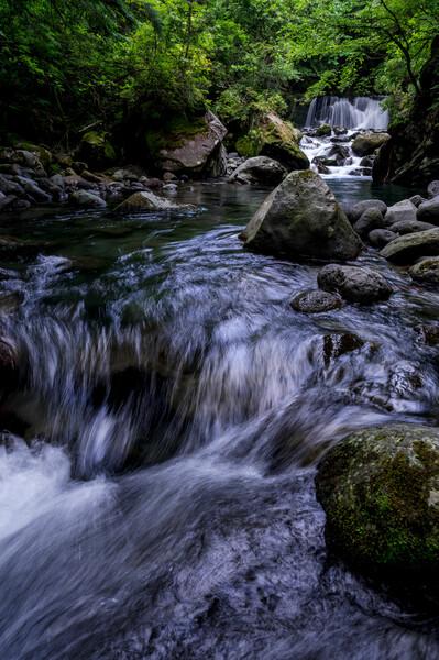 番所小滝、透明な水