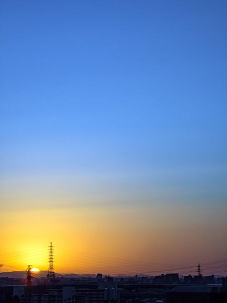 「故郷の光」日の出