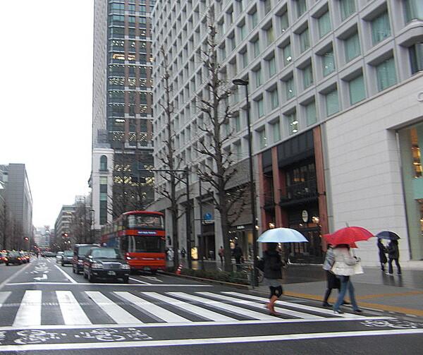 雨の日の2階建スカイバス
