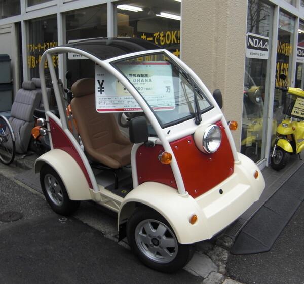1人乗り電気自動車