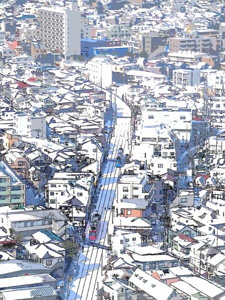 雪を纏う街