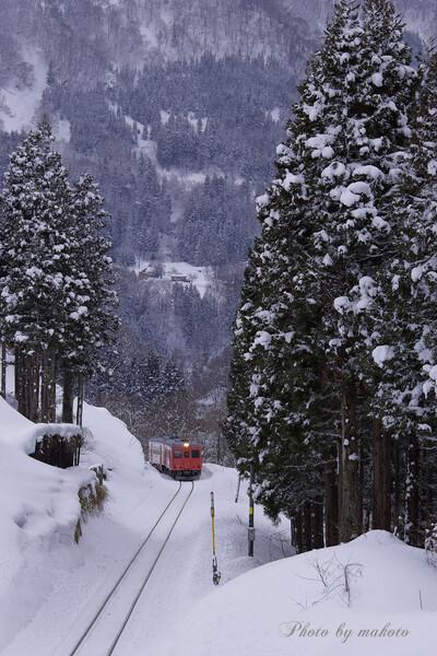 雪の大糸線