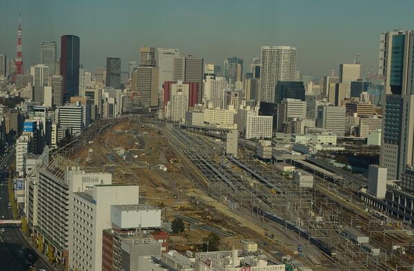 ブルートレインと品川新駅予定地