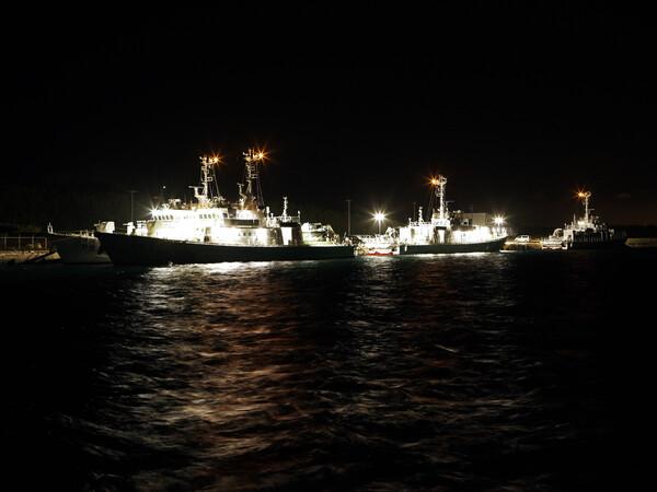 伊良部島・長山港の夜