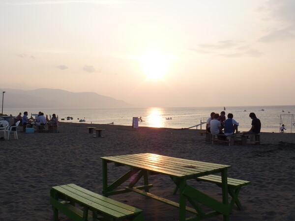 【夏】夕方の海