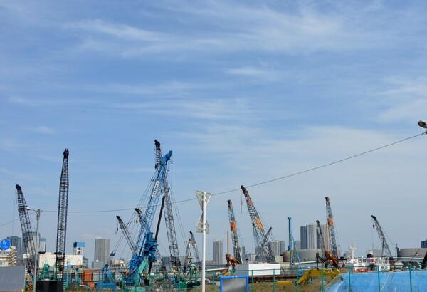 東京オリンピック選手村の工事現場風景