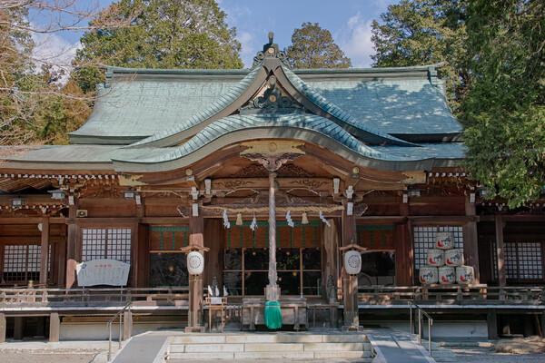 大麻比子神社の拝殿