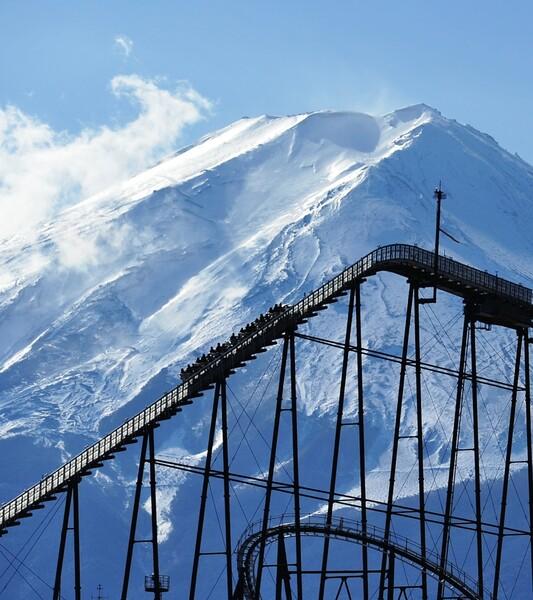富士山頂に向かって
