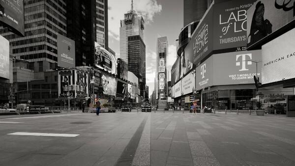 Social Distancing at Times Square