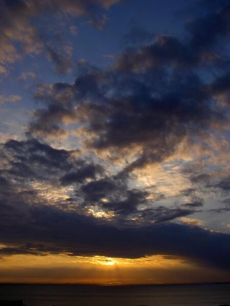 冬の夕空色