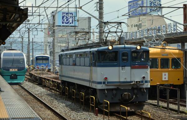 伊豆箱根鉄道大雄山線小田原駅の一コマ