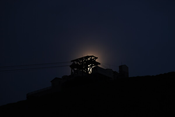 月明かりに浮かぶシルエット