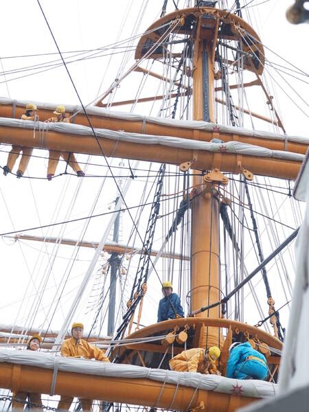 帆船 日本丸(初代)練習風景3