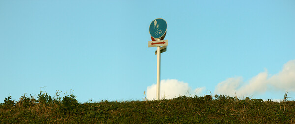 堤防の標識