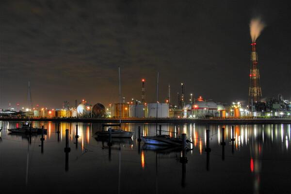 【紅】 工場夜景