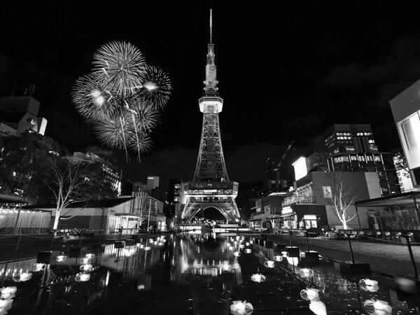 リニューアルされた名古屋テレビ塔付近