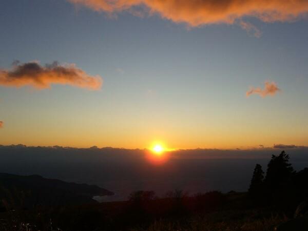 2009年 大晦日の落陽