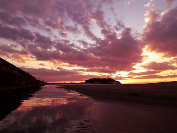 江ノ島の夕焼け01