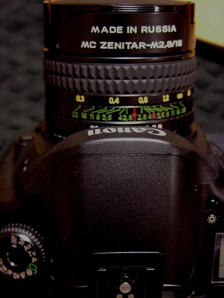 ZENIT MC ZENITAR-M 16mm F2.8 /eos の場合
