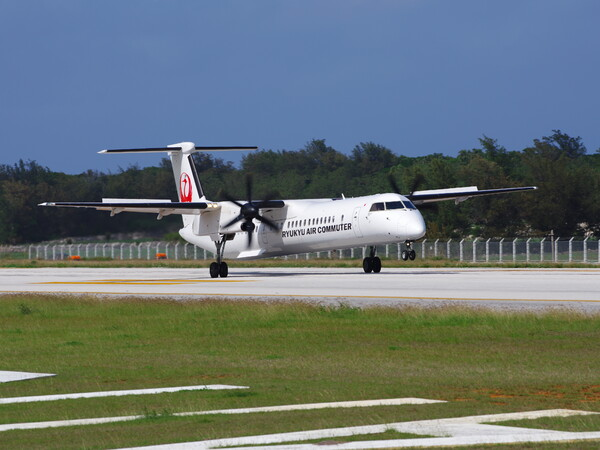 南大東空港・RAC Q400