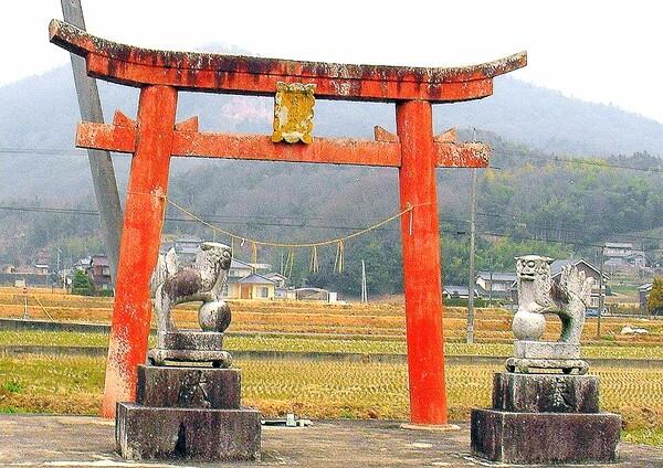 【古】穴門神社の鳥居