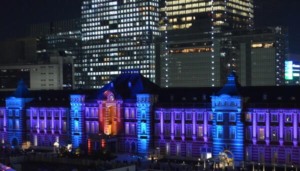 東京駅丸の内駅舎100 周年メモリアルライトアップ