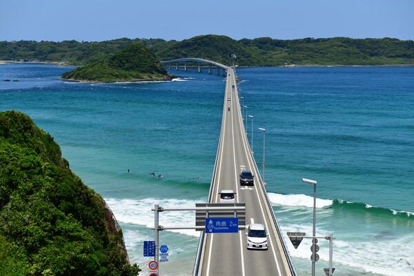 角島大橋へ
