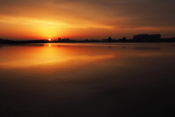 濃厚な日の出