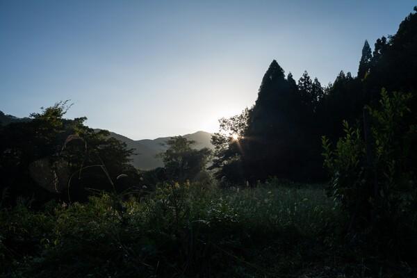 朝は、素晴らしい朝日の出・・。